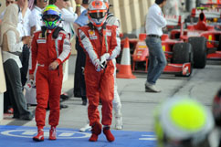 Felipe and Kimi after Qualifying
