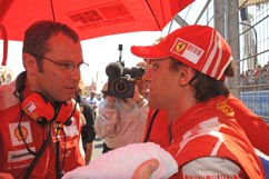 Luca and team boss Domenicali