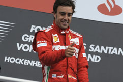 Fernando as winner with 1st place