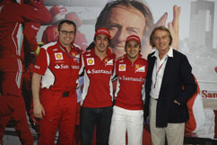 Ferrari president on stop-over visit