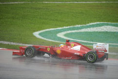 wet track for Fernando
