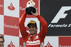 Fernando with his trophy