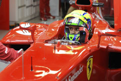 Felipe in his cockpit